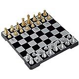 Yxxc Juego de ajedrez de Madera Plegable, Juegos de ajedrez magnéticos de Viaje de Lujo de ajedrez magnético para niños Adultos