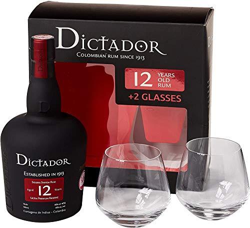Ron Dictador 12 Años + 2 Vasos De 70Cl