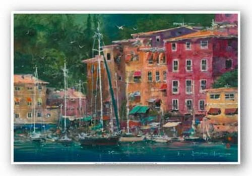 """Portofino Afternoon by James Coleman 24""""x36"""" Art Print Poster"""