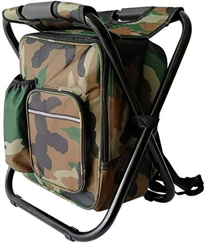 TXXM Tragbarer Camping-Rucksackstuhl, Multifunktionsfaltfischen-Rucksack mit Hocker, Leichter, wasserdichter Rucksack im Freien, verwendet für Camping/Grill/Picknick/Reisen/Jagd