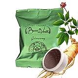 BOCCA DELLA VERITA Café Italiano - Paquete de 50 Cápsulas - Sabor GINSENG, Compatible con Cafetera Lavazza Espresso Point, 100% Made in Italy