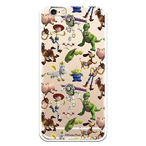 Funda para iPhone 6-6S Oficial de Toy Story Muñecos Toy Story Siluetas para Proteger tu móvil. Carcasa para Apple de Silicona Flexible con Licencia Oficial de Disney.