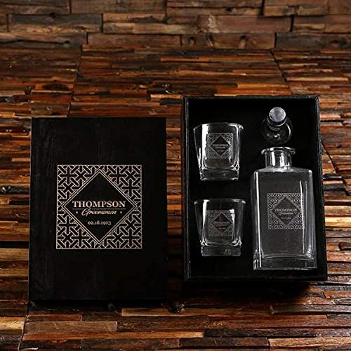 Groomsmen Decanter Gift Pack - Say Whiskey Free Shipping Cheap Bargain Gift You Thank With Genuine Free Shipping
