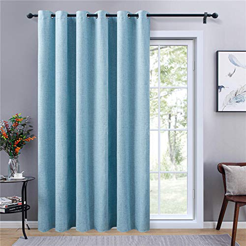 rostsp Curtain Solid Color Blackout Curtains For Living Room Linen Thickening Soundproof Curtains For The Bedroom Window Drapes-Color-8_W100Xh130_Grommet