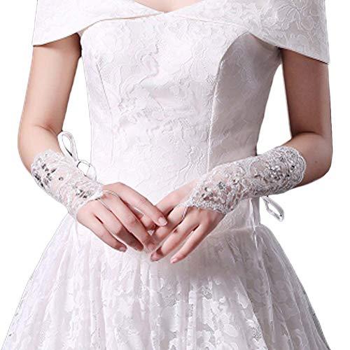 Gants de mariée mariage robes de soirée dentelle gants courts B14