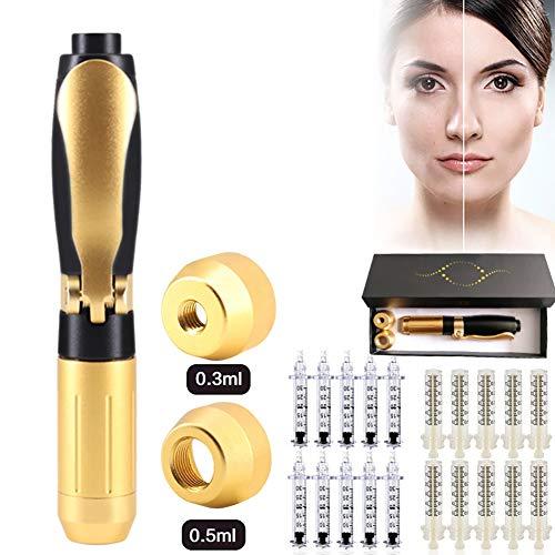 SWGN 2 in 1 Hyaluron Pen with 20 Ampoule Head for Anti-Aging Lip Filler Anti Wrinkle, Hyaluronic Injector Pen