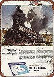 CDecor Union Pacific Big Boy Steam Locomotive Blechschilder, Metall Poster, Retro Warnschild Schilder Blech Blechschild Malerei Wanddekoration Bar Geschäft Cafe Garage