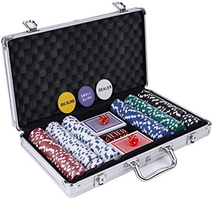 Ufree Poker Chips Set 300 PCS Poker Chips with Aluminum Case Poker Set Texas Holdem Poker Sets product image