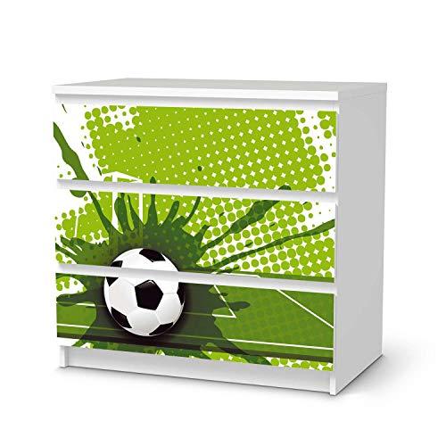 creatisto Möbel-Folie für Kinder - passend für IKEA Malm Kommode 3 Schubladen I Tolle Möbeldekoration für Baby-Zimmer Deko I Design: Goal