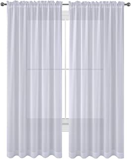 WPM WORLD PRODUCTS MART Drape/Panels/Treatment Beautiful Sheer Voile Window Elegance Curtains for Bedroom & Kitchen, 60