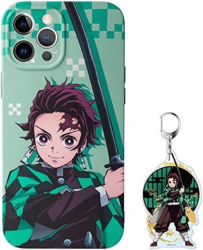 Demon Slayer Phone Case for iPhone 11,Tanjirou Phone Case iPhone 11,Comes with a Keychain(Tanjiro,iPhone 11)