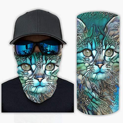 Ballbollbll Uomo e Donna Art Cat Magic Headwear Multifunzionale Casual Elastico Può Essere Usato Come Ghette Da Collo Sole/Vento Per Golf Bianco Taglia unica