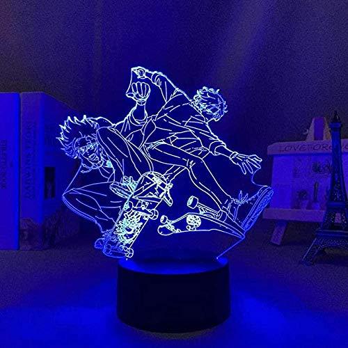 FUTYE 3D anime ilusión noche luz anime Led Langa para decoración de dormitorio niños Brithday regalo manga habitación escritorio lámpara control remoto
