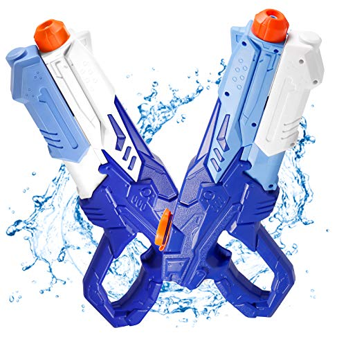 2 Pack Water Guns for Kids, Super Soaker, Water Blaster Squirt Guns, Water Squirting Toys, 600CC Beach Pool Party Favor for Boys and Girls Summer Swimming Water Fighting Play Toys