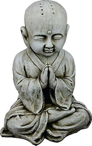 DEGARDEN AnaParra Figura Buda Shaolin Abundancia para el jardín Decorativa 44cm. hormigón Color Ceniza