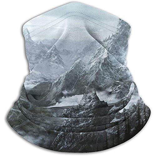 VVGETE Maske Skyrim Mountain Windproof Soft Komfortable Gesichtsmaske Bandanas Neckwarmer Für Outdoor und Sport