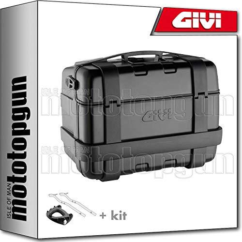 givi maleta trekker black line trk46b + porta-equipaje compatible con yamaha mt07 mt-07 tracer 2019 19