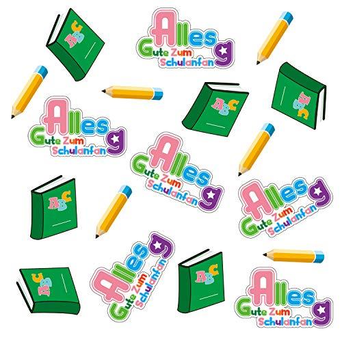 Oblique Unique® Alles Gute Zum Schulanfang Konfetti ABC Stift Buch Tisch Dekoration Schuleinführung
