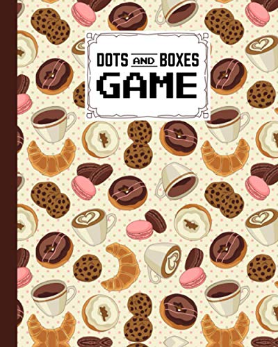 Dots And Boxes Game: Dots & Boxes Activity Book Cookies, Donuts Cover - 120 Pages!, Dots and Boxes Game Notebook - Short or Long Games - Play with Friends - Classic Pen & Paper Games (8.5 x 11 inches)