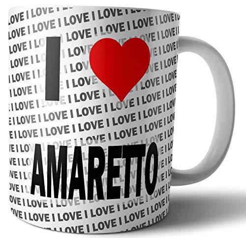 I Love Amaretto - Thee - Koffie - Mok - Beker - Verjaardag - Kerstmis - Gift