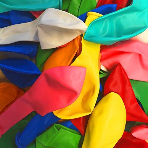 feiermeier Latexballons ca. Ø 22 cm, 55 Stück in BUNTEN Farben für Geburtstage und Partys Fest zuhause