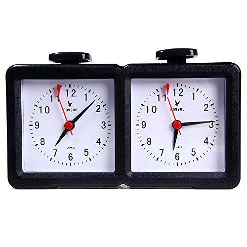 Perfectii Reloj De Ajedrez, Cuarzo Batería Accionado Ajedrez Analógico Reloj Cronómetro Temporizador De Cuenta Arriba Abajo para La Competencia del Juego De La I-go