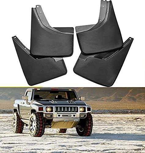 Solapas Barro Guardabarros para Hummer H2 2003-2020 H3 H3T 2006-2020, Mud Flaps Guardia Splash Guardabarros Faldillas Antibarro Carrocería Accesorios