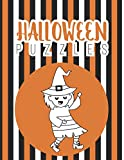 Halloween Puzzles: Halloween Word Search Holiday Fun For Adults And Kids | Halloween Word Search Puzzles Book With Solutions | Baby Announcement Gifts ... For Kids Puzzles And Solutions - Easy Level