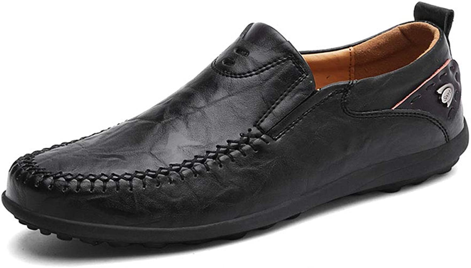 ChengxiO Leather shoes Men's New Business Casual shoes England Dress Youth Men's shoes 47 Extra Large Size Men's Bean Lazy Driving shoes