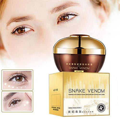 PanDaDa Crème Contour des Yeux Et Cernes, Snake Venom Eye Cream Dark Circle Eyes Sacs Masque Hydratant pour Les Yeux Anti-Âge Anti-Puffiness, 35G