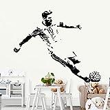 Jugador de fútbol Lionel Messi shot Barcelona FC Soccer Star Sports diy vinilo calcomanía dormitorio de los niños decoración impermeable etiqueta de la pared cartel niño regalo