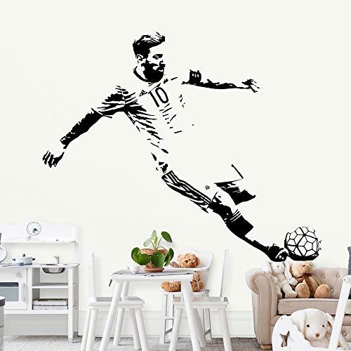 Fußballspieler Lionel Messi schoss Barcelona FC Fußballstar Sport DIY Vinyl Wandaufkleber Kinder Schlafzimmer Wasserdichtes Dekor Aufkleber Poster Junge Geschenk