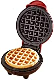 Oriental elife Mini Waffle Maker Machine Suitable for Single Waffle, Paninis, Potato Pancake and Other Mini Waffle Making Machine Anytime, Anywhere for Breakfast, Lunch or Snack,Red