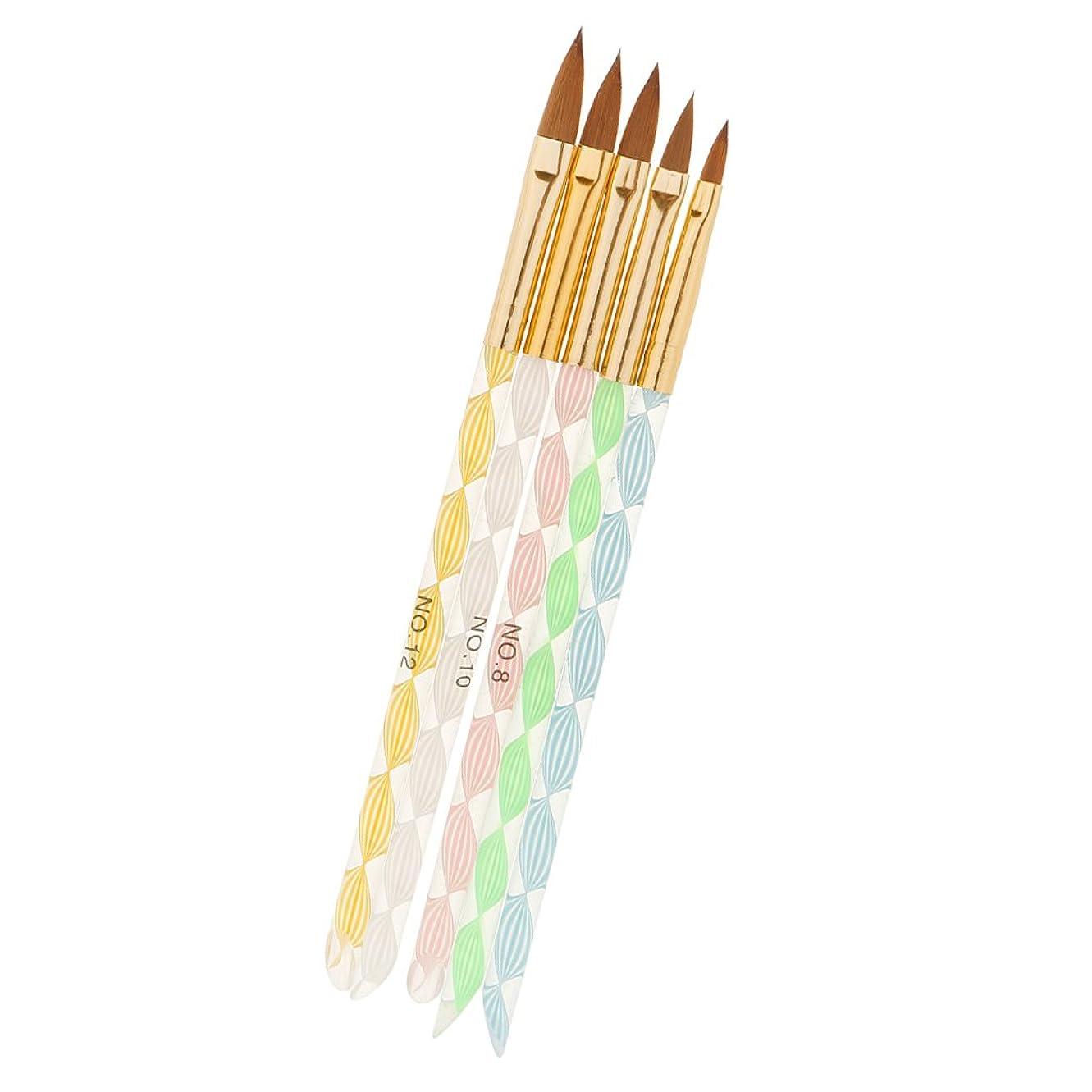 絵有害溝F Fityle 5本セット 絵画 描画 磨き ブラシ ネイルアート デザイン ブラシキット マニキュアツール