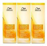 Wella Color Fresh Acid 8/0 hellblond 3 x 75 ml Tönungsliquid Gel-Tönung pH 6.5 CF