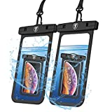 Njjex Waterproof Phone Pouch 2-Pack Cell phone Dry Bag Case & Lanyard For Samsung Galaxy Note 20 Ultra S21 Plus S20 S10 S9 S8 A01 A11 A21 A51 A71 A02S A12 A32 A42 A52 iPhone 13 Pro Max 12 11 Xs Xr 8 7