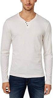 Alfani Mens Heathered Long Sleeves Henley Shirt