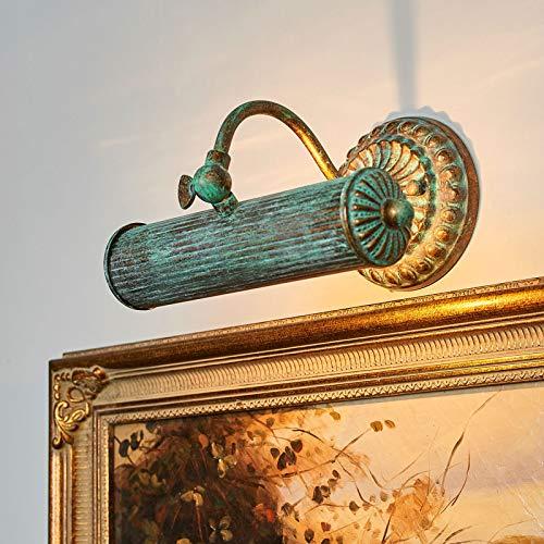 Lindby Wandleuchte, Wandlampe Innen 'Beno' dimmbar (Retro, Vintage, Antik) in Bronze aus Metall u.a. für Wohnzimmer & Esszimmer (1 flammig, E14, A++) - Bilderleuchte, Wandstrahler, Wandbeleuchtung