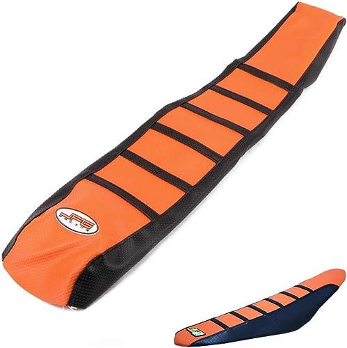 JFGRACING Orange/Noir Moto Gripper Souple Couverture De Siège De Moto pour K.T.M 65 85 125 200 250 300 400 450 525 SX...
