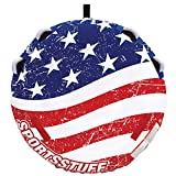 SportsStuff Stars & Stripes 2 | 1-2 Rider Towable Tube for Boating, Blue (53-4310), 57 inch diameter