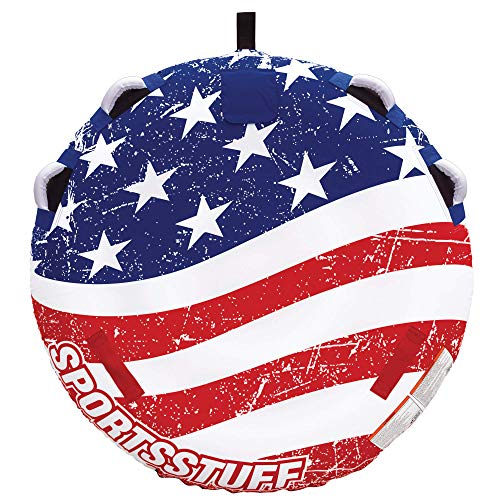 SportsStuff Stars amp Stripes 2 | 12 Rider Towable Tube for Boating Blue 534310 57 inch diameter