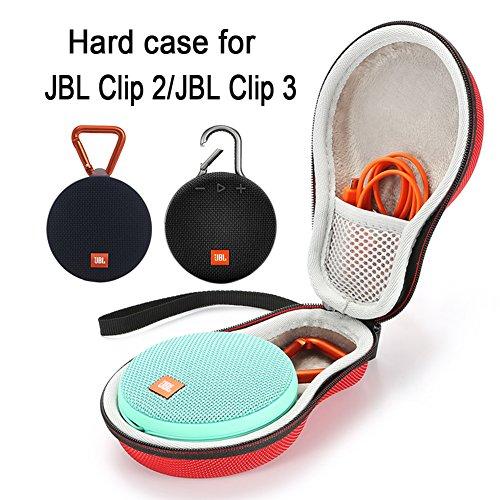Estuche rígido Que transporta la Bolsa de Almacenamiento para JBL Clip 2...