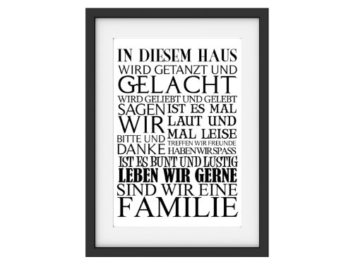 Interluxe Shabby Druck Kunstdruck IN DIESEM Haus Vintage Fine Art Print Bild Motivation DIN A4