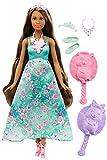 Barbie - Muñeca princesa mil peinados mágicos, morena , color/modelo surtido