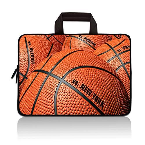 HYUTOTA 11 11.6 12.1 12.5 inch Laptop Carrying Bag Chromebook Case Notebook Ultrabook Bag Tablet Cover Neoprene Sleeve Fit Apple MacBook Air Samsung Google Acer HP DELL Lenovo Asus(Basketball)