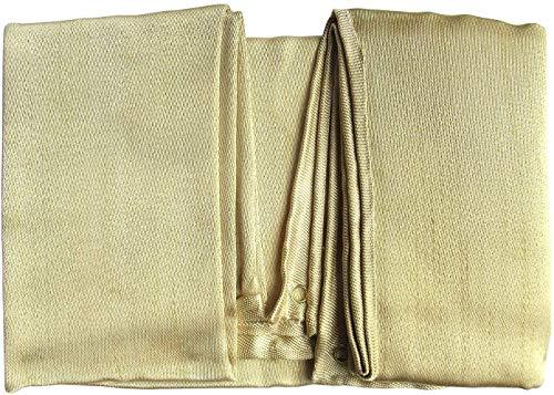 Victosoaring Manta de soldadura pesada, cubierta de seguridad ideal para protección o supervivencia de emergencia (1,51,5 m)