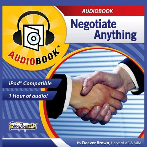 Negotiate Anything audiobook cover art