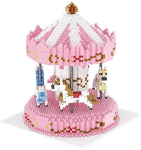 HYLL Niños Bloques de Figuras de Juguete de Regalo DIY Diamante del carrusel Asamblea Modelo cumpleaños (2572 Piezas)