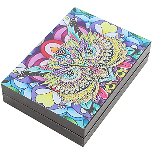 Caja de almacenamiento de joyas Caja de joyería con pintura de diamantes DIY Contenedor de almacenamiento de escritorio Kits de bordado Decoración del hogar