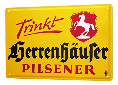 NNHG Blechschild 20,3 x 30,5 cm Blechschild Beer Herrenhäuser Deutschland Metallschild